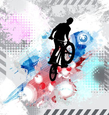 Sticker Silhouette of a bicycle rider.