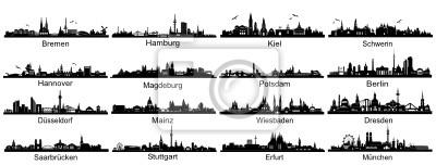 Silhouetten deutscher Hauptstädte