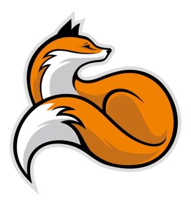 Sticker simple fox
