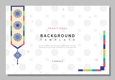 Sticker Simple Korean traditional pattern template