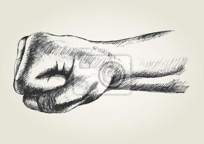 Sketch Darstellung eines Stanz Faust