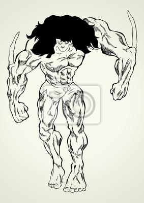 Sketch Illustration einer Mutante