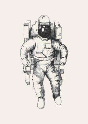 Sticker Sketch illustration of an astronaut