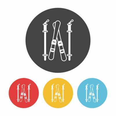 Sticker Ski-Bord-Symbol