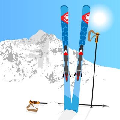 Sticker Ski und Snowboard Erholung 01