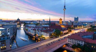 Sticker Skyline Berlin, Blick auf den Alexanderplatz