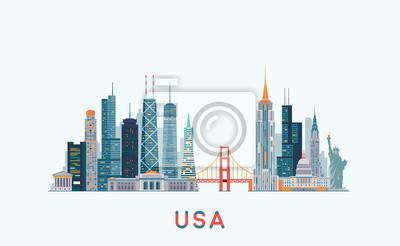 Skyline der USA. Abbildung