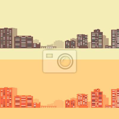 Skyline Hintergrund mit Gebäuden, v