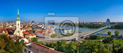 Skyline Panorama von Bratislava, Slowakei
