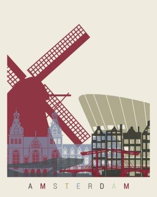 Sticker Skyline von Amsterdam