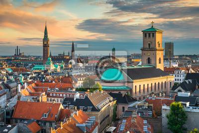 Skyline von Kopenhagen, Dänemark