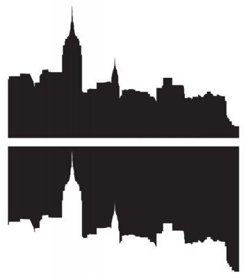 Sticker Skyline von New York City