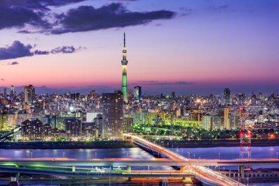 Sticker Skyline von Tokio, Japan