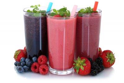 Sticker Smoothie Saft mit Früchte Fruchtsaft Freisteller