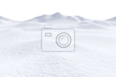 Sticker Snow hills isolated on white background