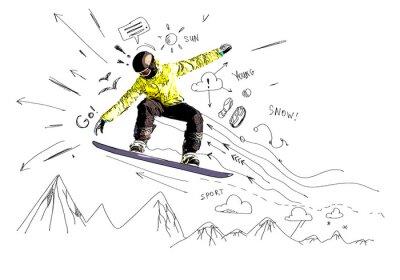 Sticker Snowboarding