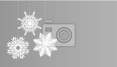Sticker Snowflakes simple christmas decoration