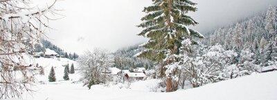 Sticker Snowy Berg im Winter