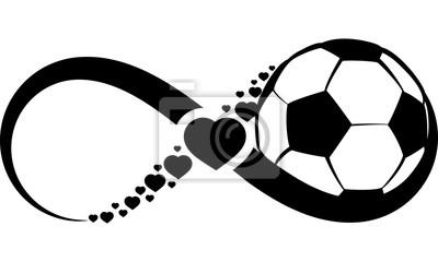 Sticker Soccer or Football Love Infinity