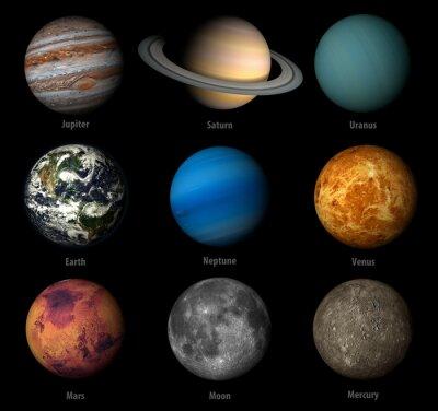 Sticker solar system