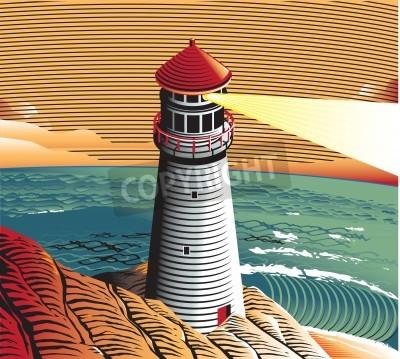 Sticker Sommer-Leuchtturm