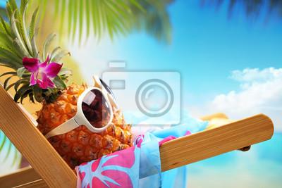 Sticker Sommerurlaub am Strand