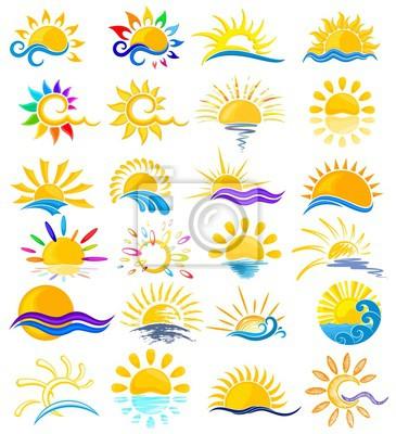 Sonne Logos mit Meer.