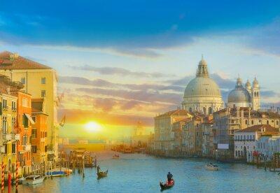 Sticker Sonnenaufgang in Venedig
