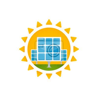 Sonnenkollektor und Sonne.
