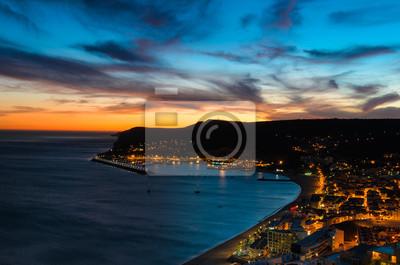 Sonnenuntergang am Atlantik, Bucht von Sesimbra, Portugal