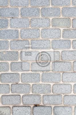 Sortiert abgerundeten Rand Backstein Pflaster / Gehweg