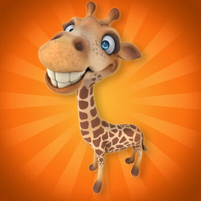 Sticker Spaß-Giraffe