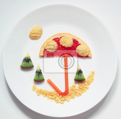 Spaß-mit-Essen-Bild-auf-Teller-kreativ-gesund-Essen-für-Kinder-steigern-Appetit