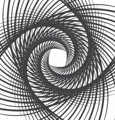 Sticker Spirale whirl abstrakten Hintergrund schwarz und weiß
