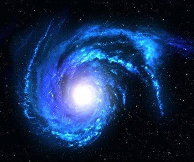 Sticker Spiralgalaxie im Weltraum mit Stern Feld Hintergrund.