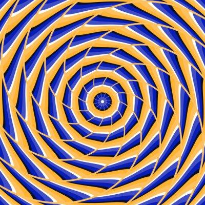 Sticker Spiralverdrehung zur Mitte. Abstract vector optische Täuschung Hintergrund.