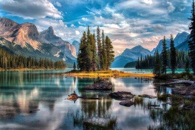 Sticker Spirit Island - Maligne Lake - Jasper National Park