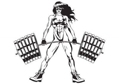 Sticker Sportliche Mädchen