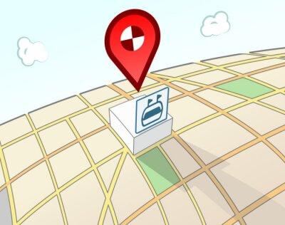 Sportplatz 3D-Standortschild