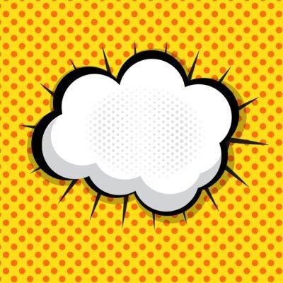 Sticker Sprechblase Pop Art Hintergrund Auf Dot Hintergrund Vektor Illust
