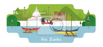 Sri Lanka Reise- und Attraktionsmarken