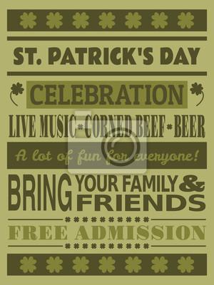 St. Patricks Day Party-Einladung
