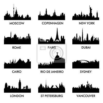Stadt Silhouette Vektor