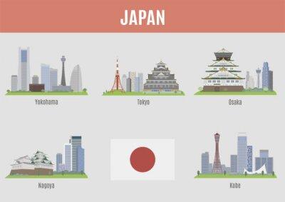 Sticker Städte in Japan
