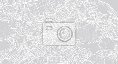 Städtischer Vektor Stadtplan von Edinburgh, Schottland
