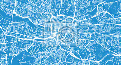 Städtischer Vektor Stadtplan von Glasgow, Schottland