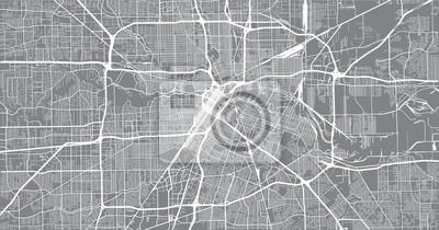Städtischer Vektor Stadtplan von Houston, Texas, USA