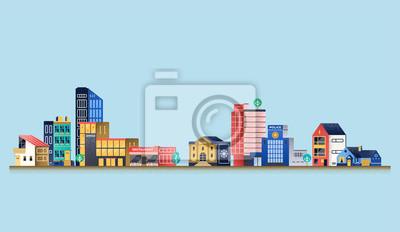 Stadtlandschaft mit modernen Gebäuden