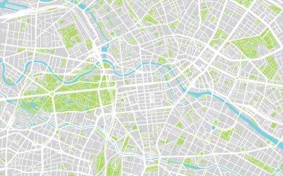 Stadtplan von Berlin, Deutschland