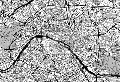 Stadtplan von Paris